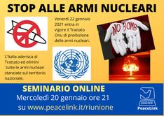Stop alle armi nucleari (seminario online per l'educazione alla pace e al disarmo)
