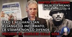 Iraq e Afghanistan: Assange ha informato, la stampa non lo difende
