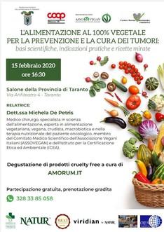 L'alimentazione al 100% vegetale per la prevenzione dei tumori