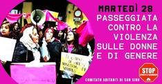 Passeggiata contro la violenza sulle donne e di genere.