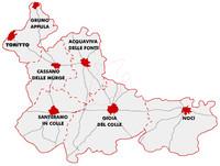 Mappa della Murgia Barese