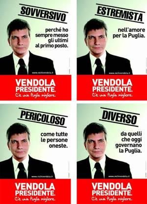 Manifesti della campagna elettorale di Nichi Vendola