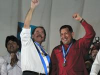 Daniel Ortega e Hugo Chávez a Managua (Foto G. Trucchi)