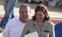 L'ex presidente Alemán con la moglie (©Foto G. Trucchi)