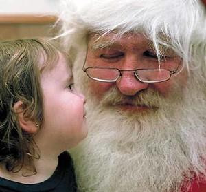 Babbo Natale con una bambina
