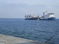 "La nave ""Giulio Verne"" al largo di Ischia"