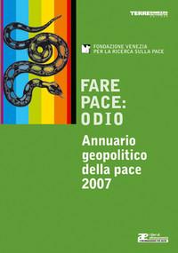 La copertina dell'Annuario Geopolitico della Pace 2007
