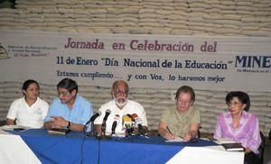 Conferenza stampa del ministro De Castilla (© Foto G. Trucchi)