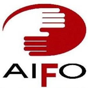 Il logo dell'AIFO (Associazione Italiana Amici di Raoul Follereau)