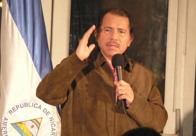 Daniel Ortega durante il messaggio alla nazione (© Foto G. Trucchi)