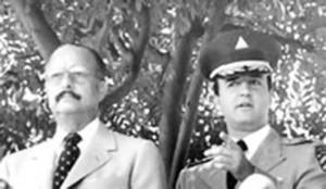 Anastasio Somoza Debayle con il figlio Anastasio Somoza Portocarrero ai tempi della dittatura (Foto storica)