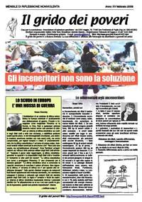 IL GRIDO DEI POVERI (mensile di riflessione nonviolenta) febbraio 2008