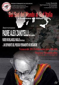 Alex Zanotelli il 29 a Grottaglie