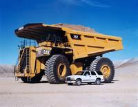 Le macchine per l'estrazione del minerale sono enormi, alte fino a 20 metri.
