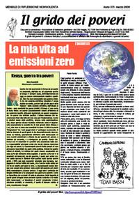 Il grido dei poveri (mensile di riflessione nonviolenta) marzo 2008