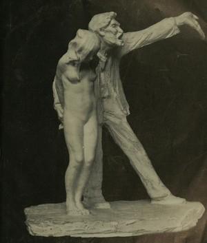 """Statua di una ragazzina catturata nella """"tratta delle bianche"""", come la prostituzione veniva chiamata nel XIX secolo."""