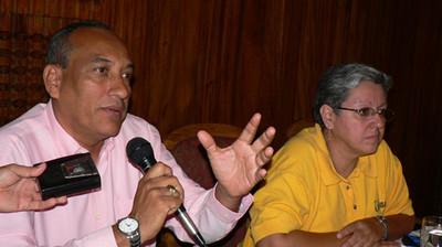 Cirilo Otero e Ana Quiroz durante la conferenza stampa (© Foto G. Trucchi)