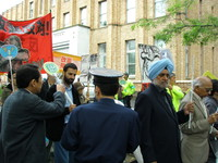Ospiti internazionali alla manifestazione in difesa dell'articolo 9 della Costituzione Giapponese