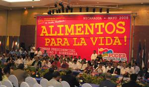 """Momenti del Vertice """"Alimentos para la Vida"""" a Managua (© Foto G. Trucchi)"""