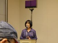 Kayoko Ikeda, una dei promotori della Conferenza Whynot9, nota scrittrice e traduttrice giapponese, alla conferenza stampa
