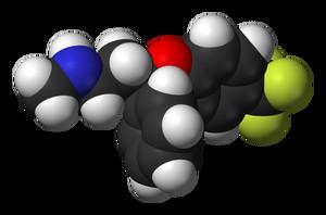 Una molecola di Fluoxetina (Prozac per gli amici)