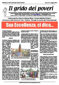 IL GRIDO DEI POVERI (mensile di riflessione nonviolenta) maggio 2008