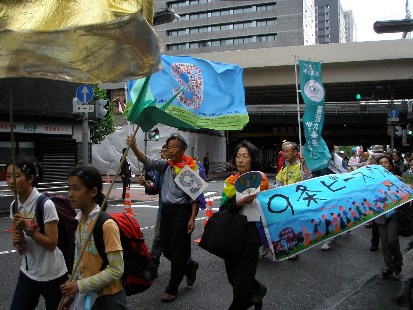 Peace Walk avanza nel cuore di Tokyo