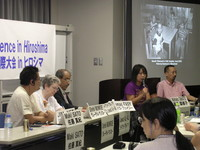 la seconda giornata della Conferenza ICBUW ascoltare le testimonianze degli operatori civili in Iraq