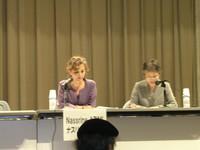 la terza e ultima giornata della III Conferenza ICBUW a Hiroshima intervento della rappresentanza Onu