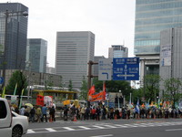 Siamo quasi al punto d'arrivo, vicino alla stazione centrale di Tokyo