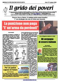 IL GRIDO DEI POVERI (mensile di riflessione nonviolenta) giugno 2008