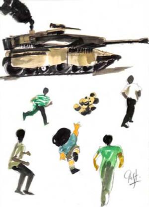 Disegno bambino palestinese