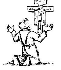 Francesco davanti al Crocifisso