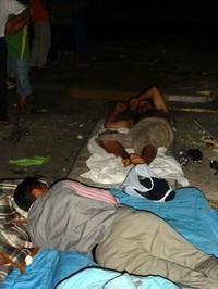 Osmannoro, sui materassi dopo lo sgombero (luglio 2008)