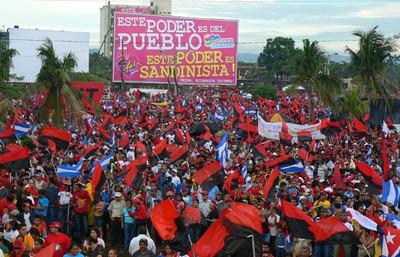 Plaza de la Fe a Managua per il XXIX anniversario della RPS (© Foto G. Trucchi)