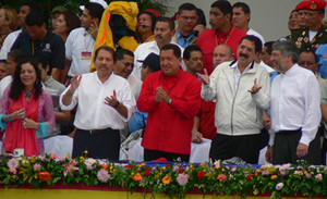 "Hugo Chávez, Manuel ""Mel"" Zelaya e Fernando Lugo (© Foto G. Trucchi)"