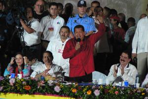 Il discorso di Hugo Chávez (© Foto G. Trucchi)