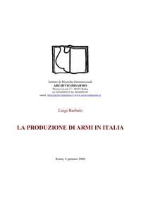 La produzione di armi in Italia