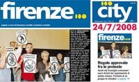 """La protesta con i cartelli """"I prossimi siamo noi"""" pubblicata su City Firenze"""