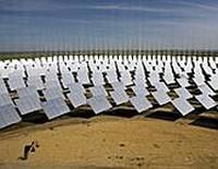 Pannelli solari in Sahara
