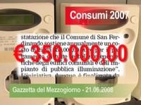 San Ferdinando di Puglia - Spesa energia elettrica 2007.