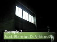 San Ferdinando di Puglia - Scuola elementare De Amicis. Luci accese di notte.