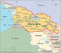 Mappa della Georgia