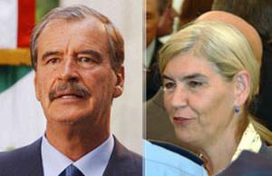 Vicente Fox ed Eva Zetterberg (Fotomontaggio G. Trucchi)