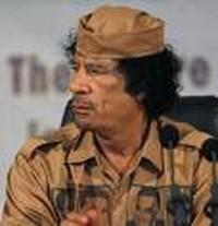Il colonnello Gheddafi