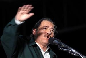 Il presidente Ortega durante il suo annuncio (© Foto EFE)