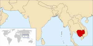 Locazione geografica della Cambogia