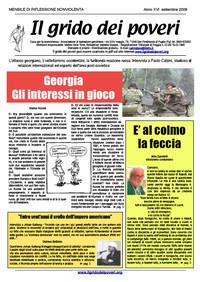 IL GRIDO DEI POVERI (mensile di riflessione nonviolenta) settembre 2008