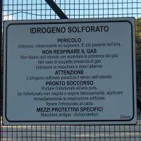 Cartello rischio idrogeno solforato