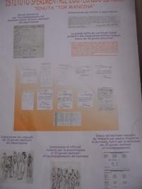 Pannello dei  certificati medici fasulli consegnati  ai nazisti contrariamente all'imposizione di approntare per l'1 giugno 1944  venti giovani destinati all'accompagnamento del bestiame al nord. Elenco dei venti giorni. Certificati medici. Schizzi raffiguranti le famiglie disperate dei giovani; la Commissione degli Ufficiali Tedeschi; l'elenco del bestiame requisito per il trasferimento.